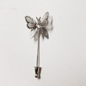 Monet Silver Butterfly Lapel Pin, Pins, Lapels